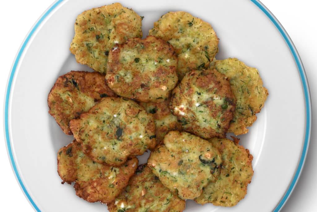 Receta de buñuelos de calabacín con queso