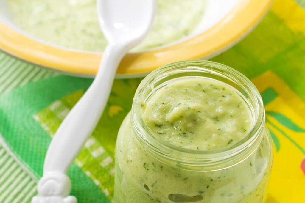 Receta de puré de calabacín y patata para bebés