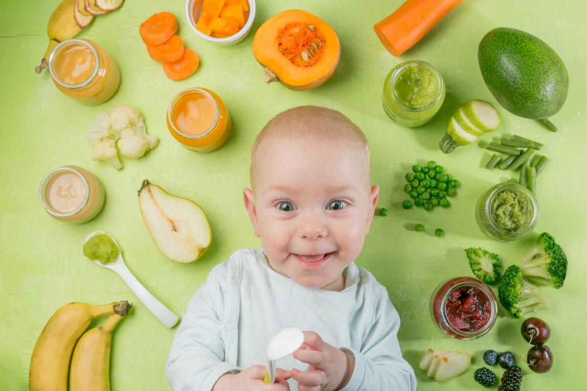 Menú diario para bebés de 6 a 9 meses