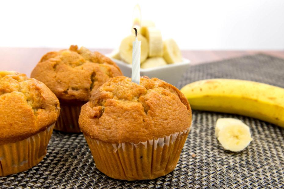 Pastel de cumpleaños de plátano para bebés