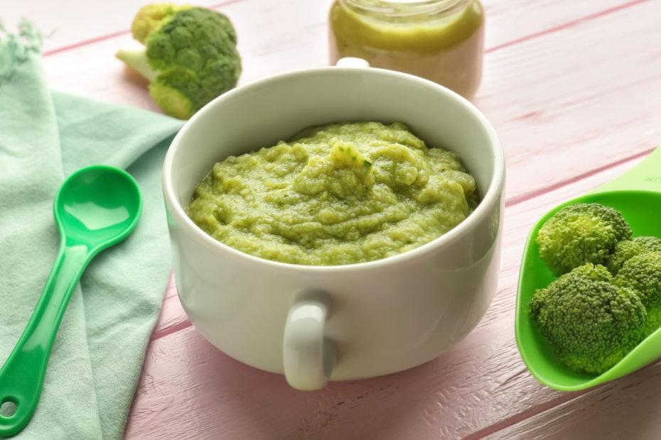 Receta de puré de brócoli y patata para bebés