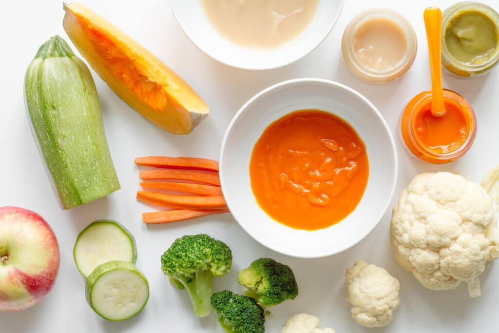 Verduras para purés de bebé: calabacín, zanahoria, coliflor, brócoli, calabaza
