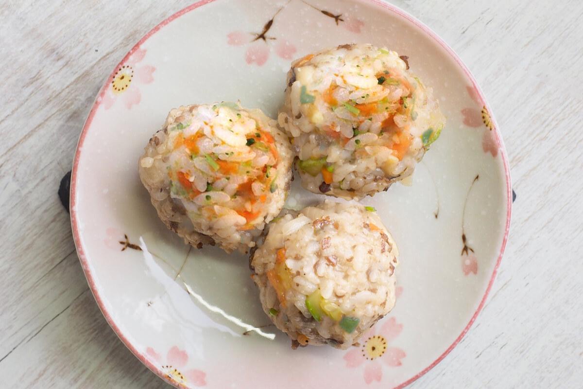 Receta de albóndigas de arroz y pavo para bebés