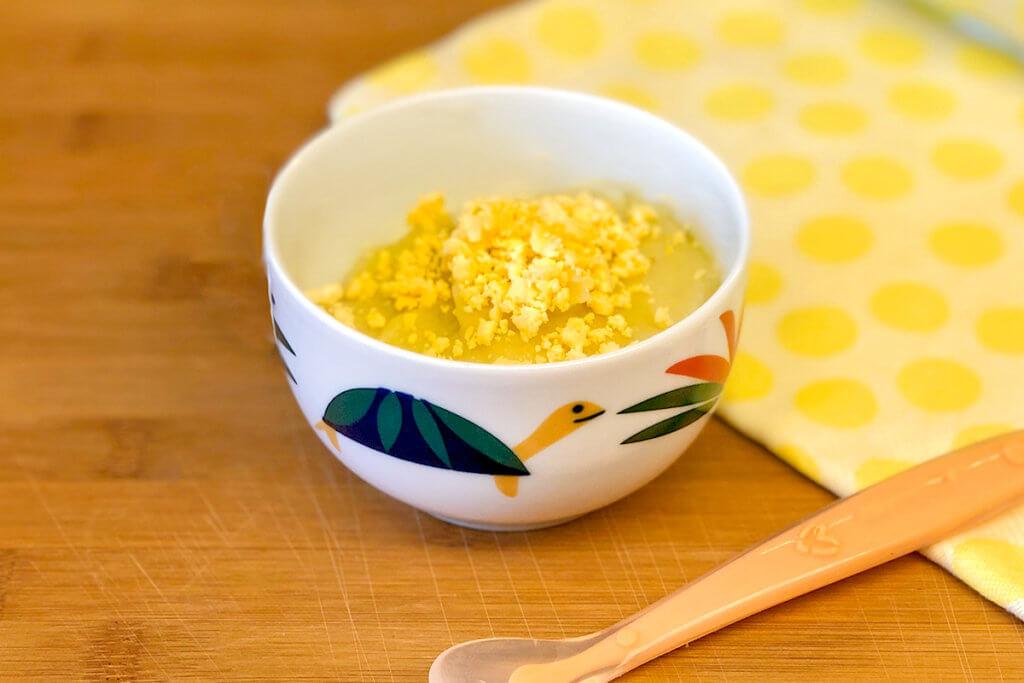 Receta de puré de patata con yema de huevo para bebés