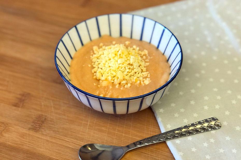 Receta de puré de verduras con yema de huevo para bebés