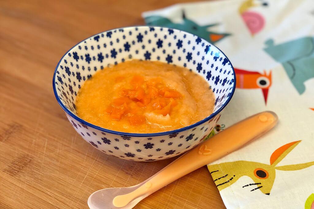 Receta de puré de zanahoria con bacalao fresco