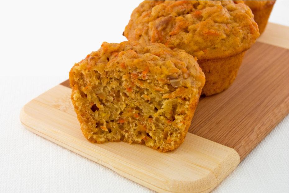 Receta de pasteles o bizcochos de zanahoria para bebés