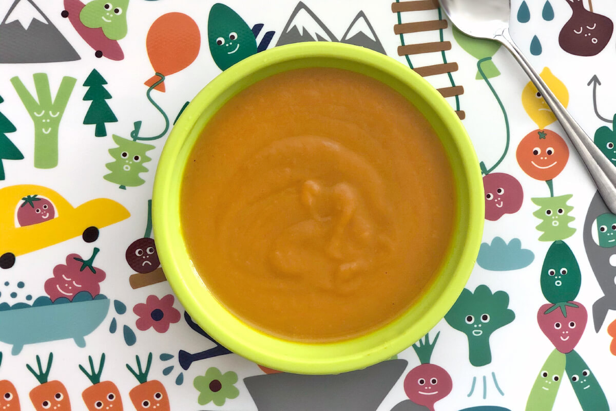Receta de puré de calabaza y zanahoria para bebés