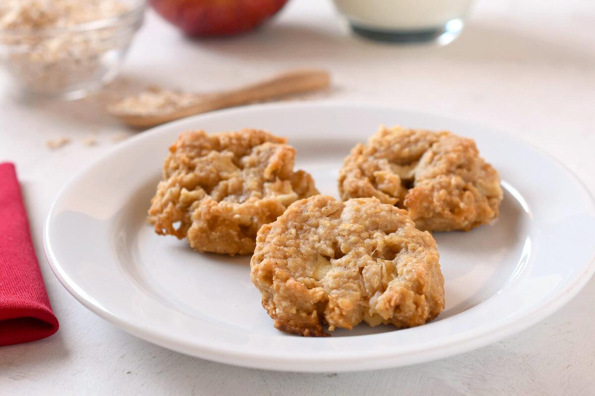 Receta de galletas de avena y manzana para bebés