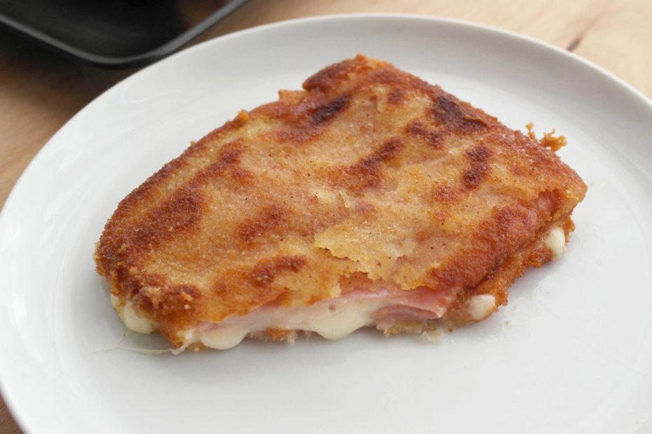 Receta de San Jacobos de jamón y queso para bebés