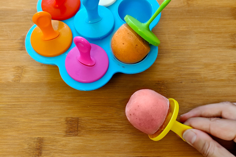 Receta de polos de fruta para bebés