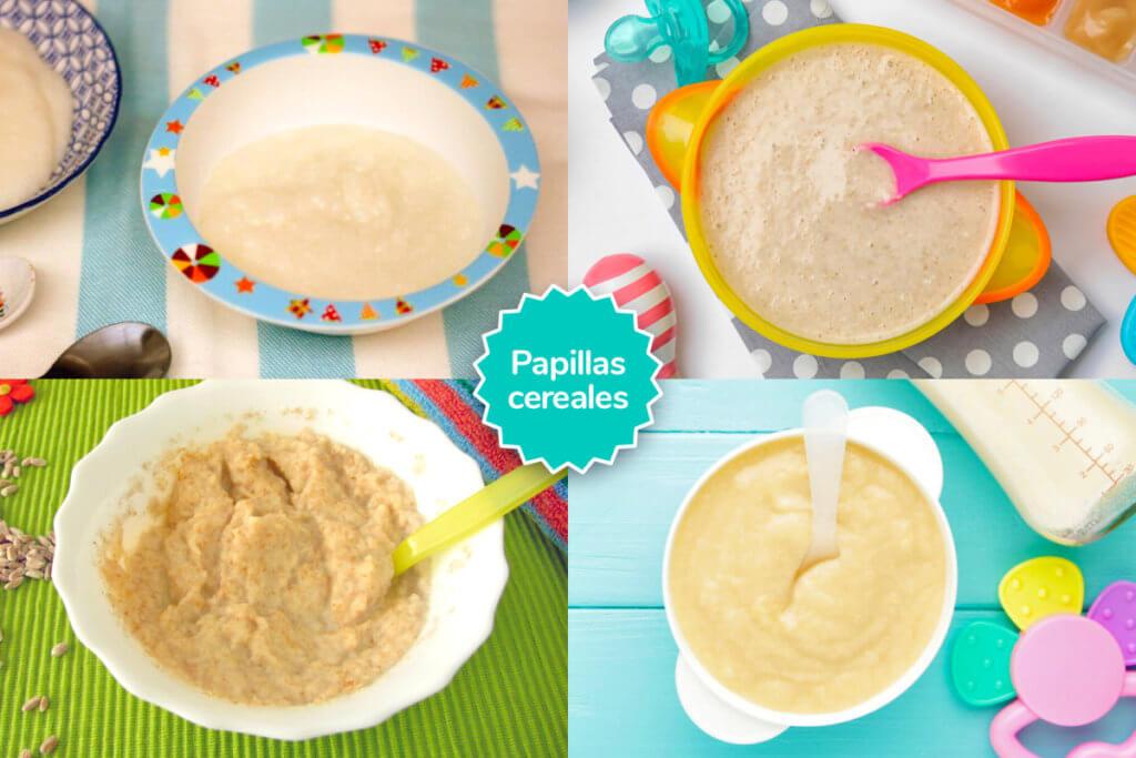 Papillas de cereales caseras para bebés