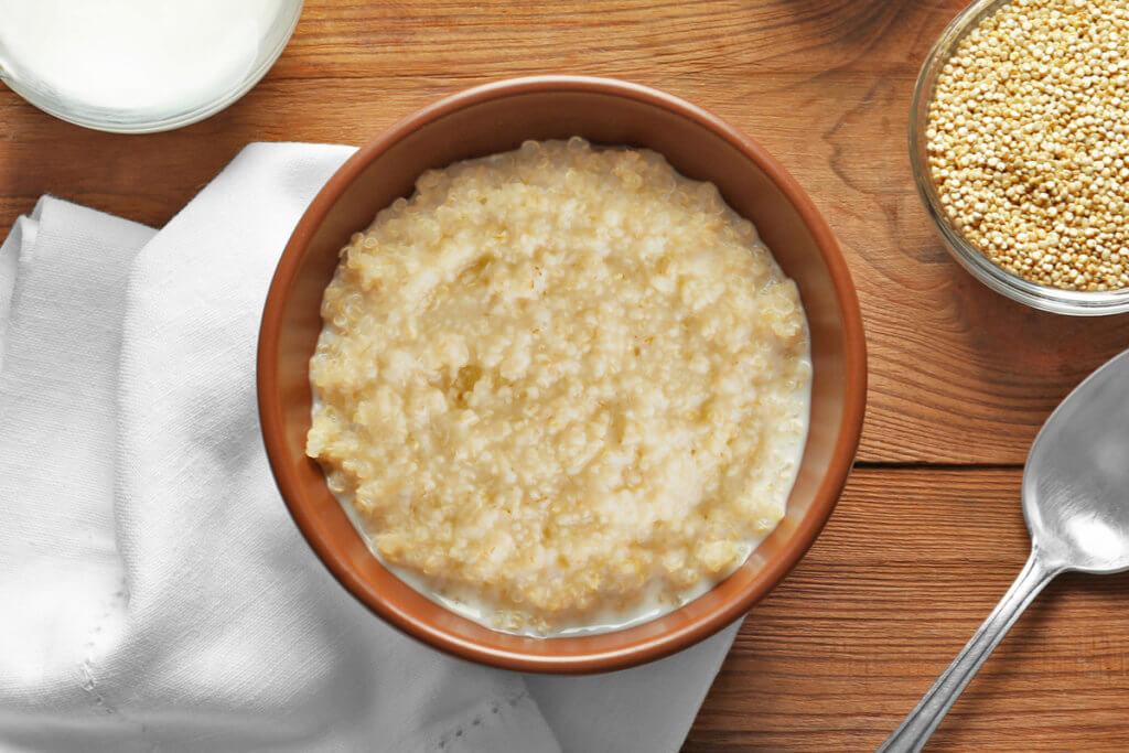 Receta de papilla de quinoa con leche para bebés